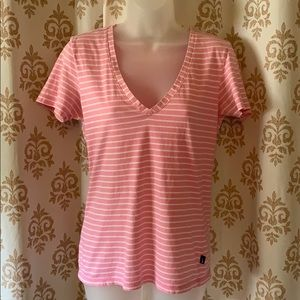 Nike pink striped T-shirt stained M